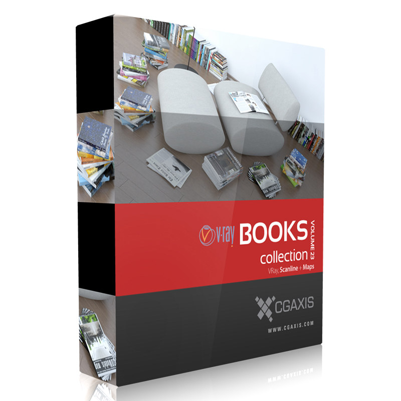 book set paper 3d model