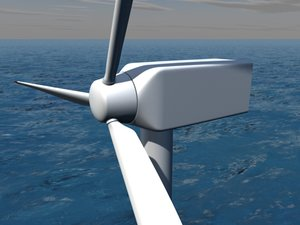 offshore wind power plant 3ds