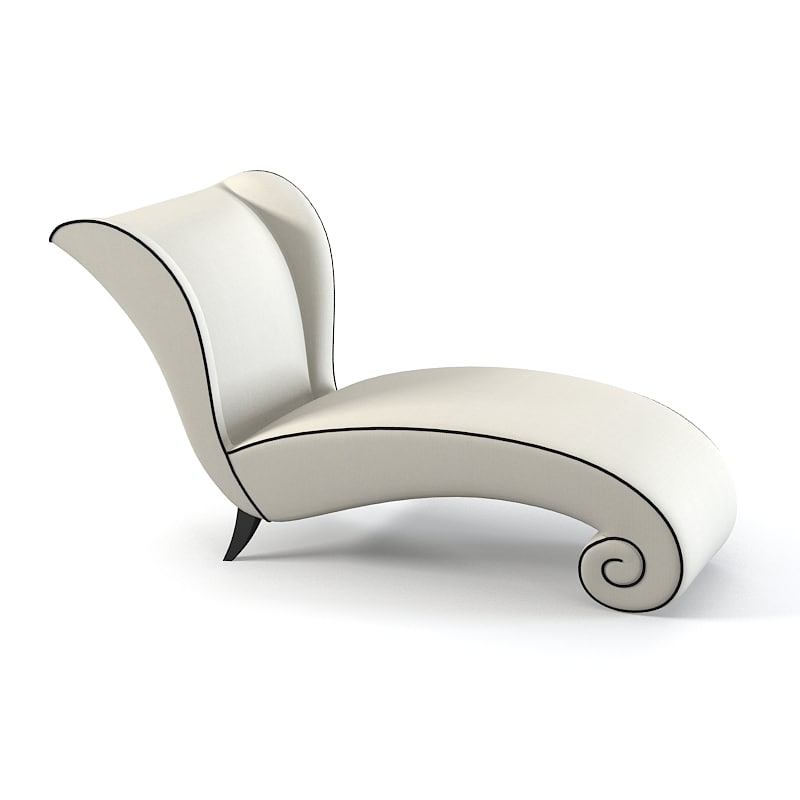 3d model wing chaise lounge