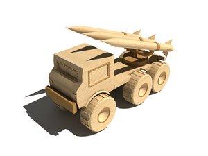 3d model wooden military rocket launcher