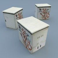 3d model street utility box
