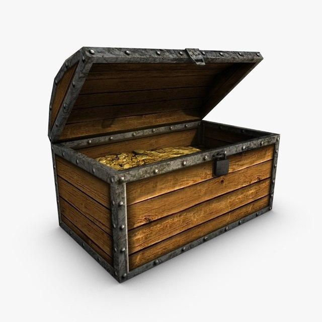 chest treasure 3d max
