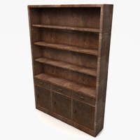 3d model cupboard wood