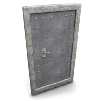 metal door basement 3d max