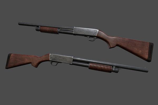 ithaca 37 shotgun c4d