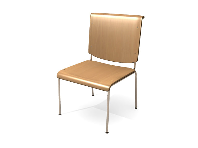 Free Simple Classroom Chair 3d Model