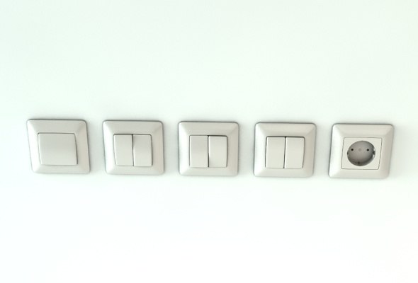 c4d light switches outlet