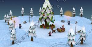 christmas package 3d model