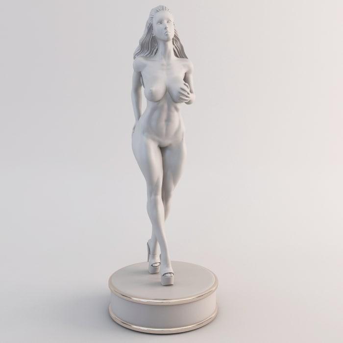 fitness female 3d max
