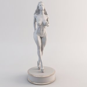 fitness female 3d max