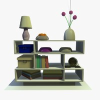 White Shelving With Decor
