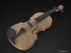 solidworks violin 3d ige