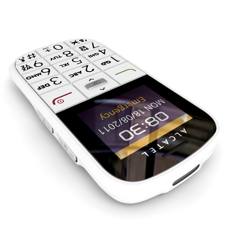 alcatel onetouch 282 white 3d model