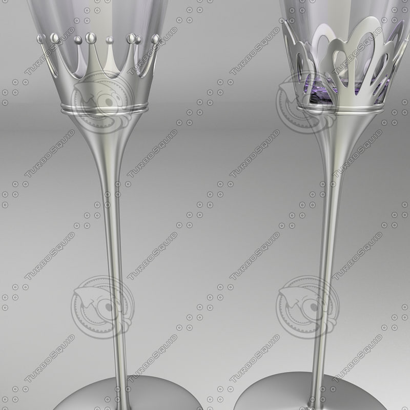 3d model of glass cup
