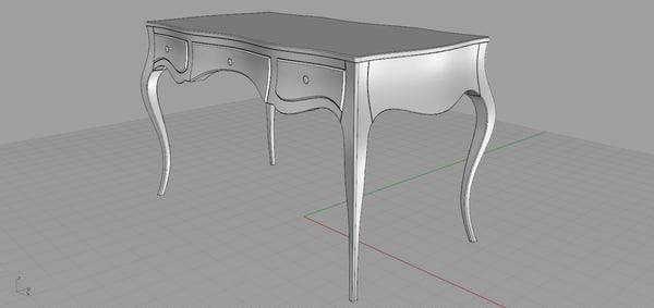3d model moda poema desk