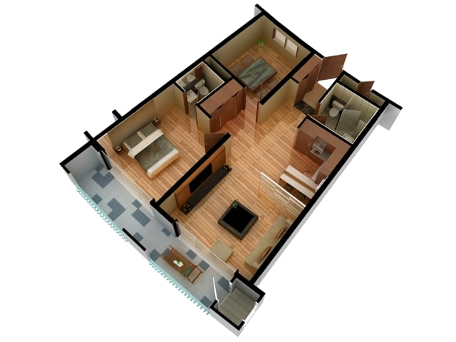 3d Model Of Floor Plan Doll House