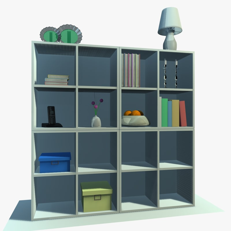 3d white cabinet decor model