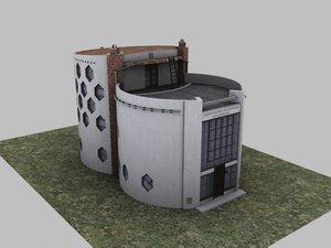 moscow melnikov house 3d model