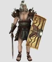 3d model character spartacus