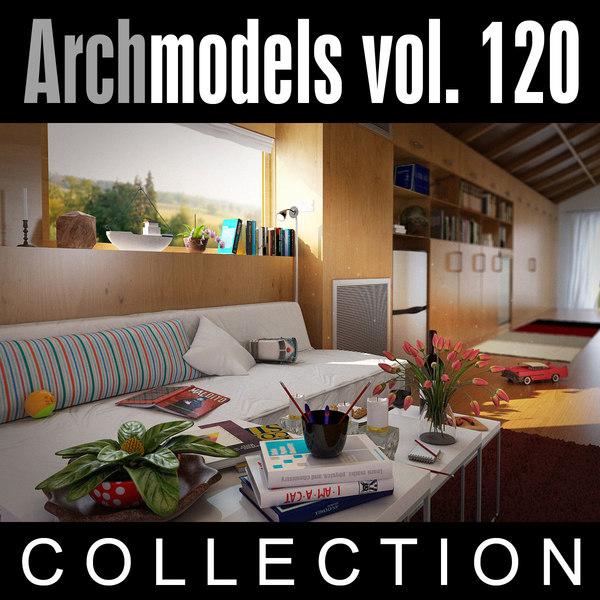 3d model of archmodels vol 120