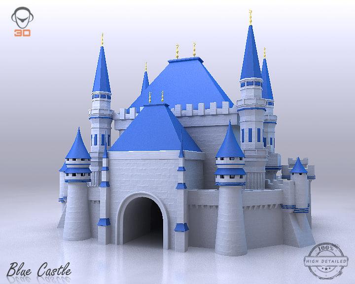 blue castle 3d 3ds