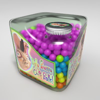 3d model cubic candy bottle