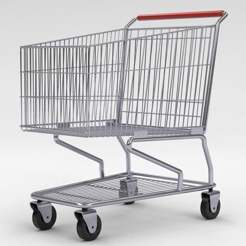 3d model shopping cart