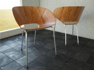 chair interior scene 3d model