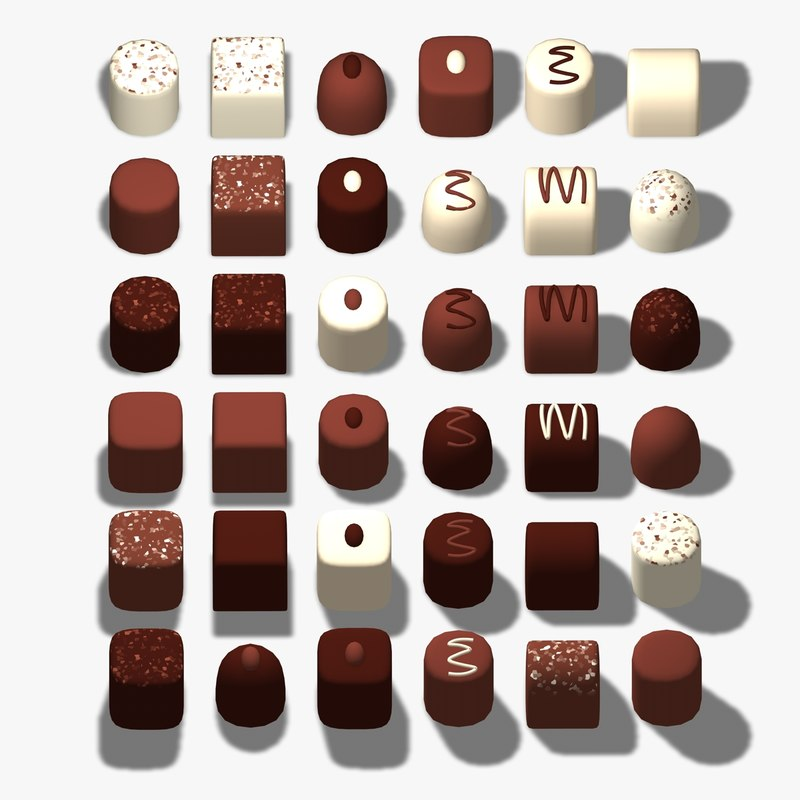 chocolates 3d 3ds