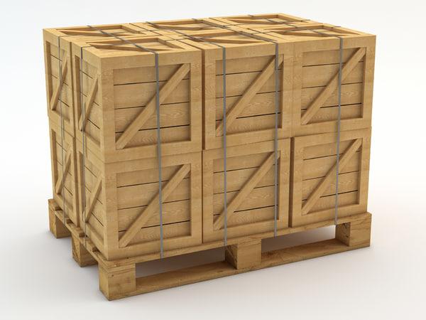 3d pallet crates