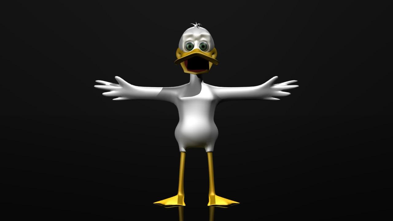 character duck 3d model