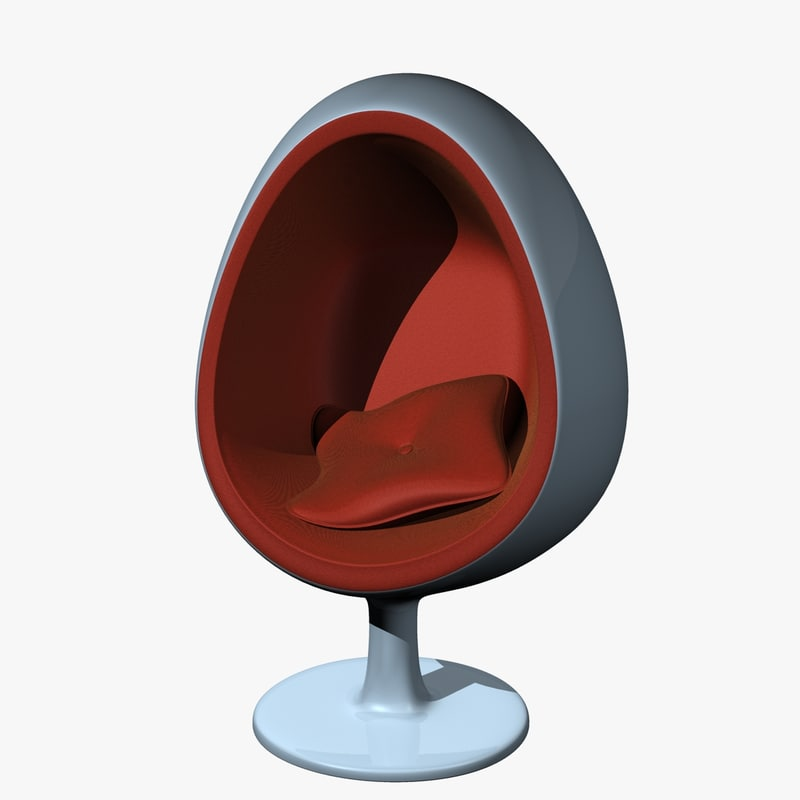 egg chair 3d model. Black Bedroom Furniture Sets. Home Design Ideas