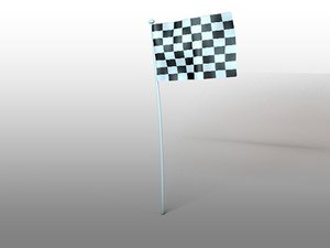 flag animation 3d model