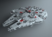 lego 10179 millennium falcon 3d model