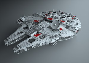 lego 10179 millennium falcon 3d model