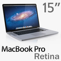 macbook pro retina display 3d 3ds