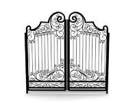 3ds max old metal gate