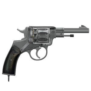 3d nagant m1895 model