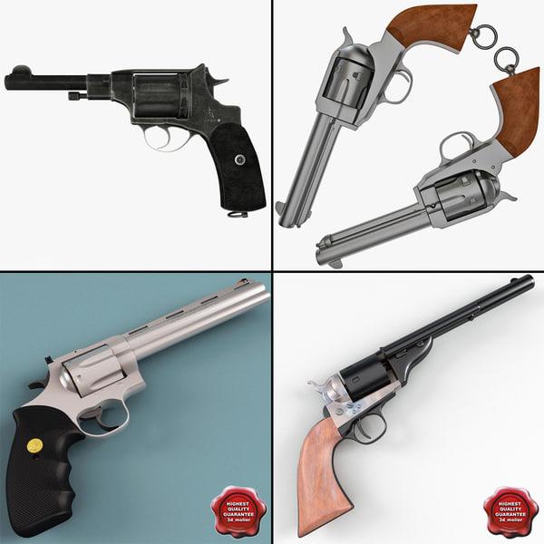 revolvers details colt 3d max