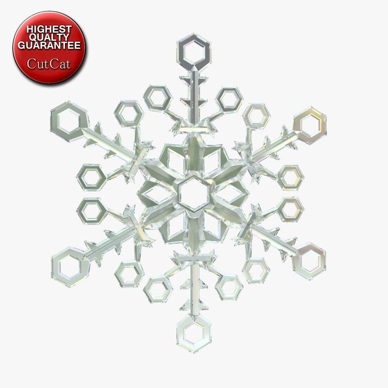 snowflake snow flake 3d 3ds