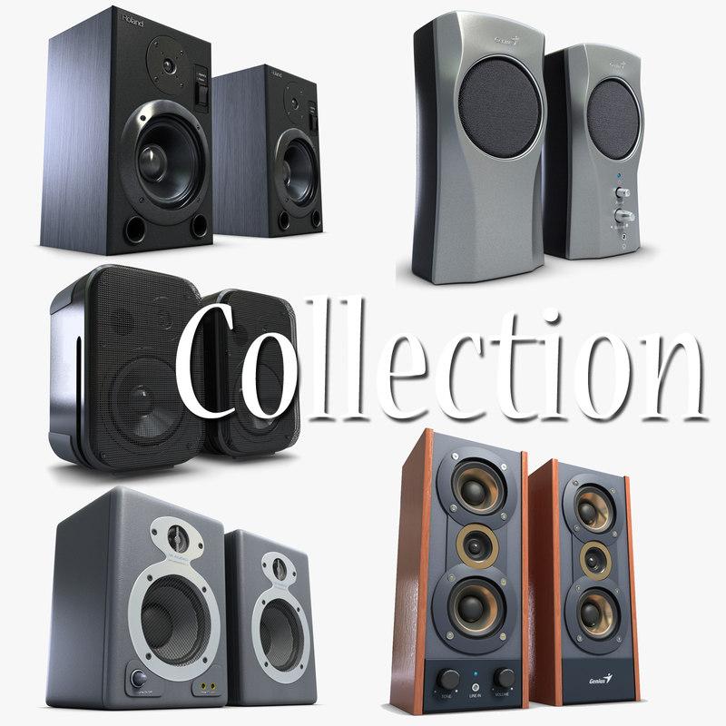 music speakers 1 3d model