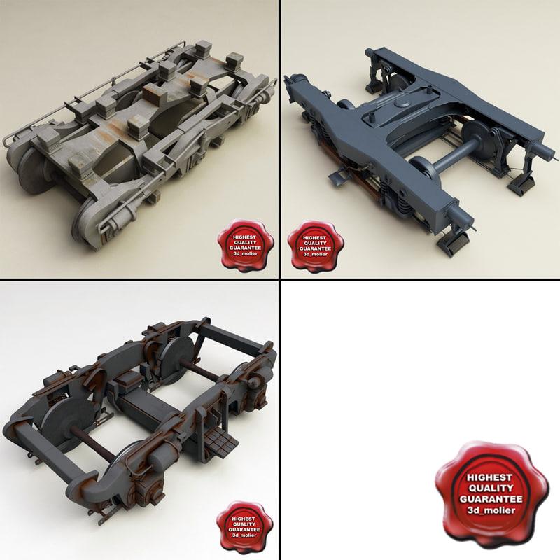 train wheels 3d c4d