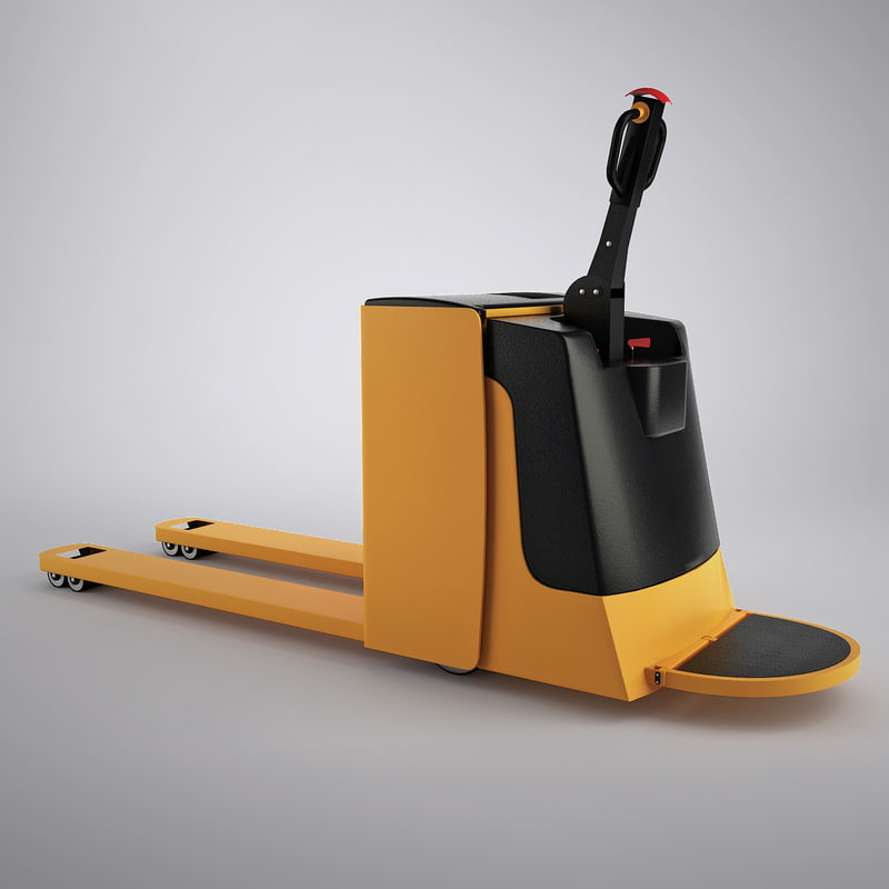 3d model electric pallet truck