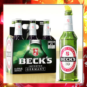 max becks beer bottle 6