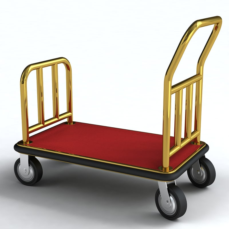 3d cart luggage model