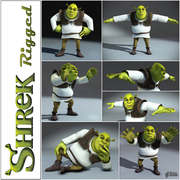 3ds max shrek rigged