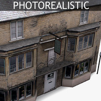 3d model realistic old house