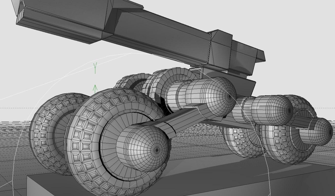 futuristic cannon 3ds