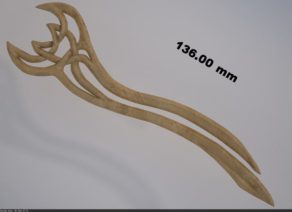 3ds max hairpin modelled stl
