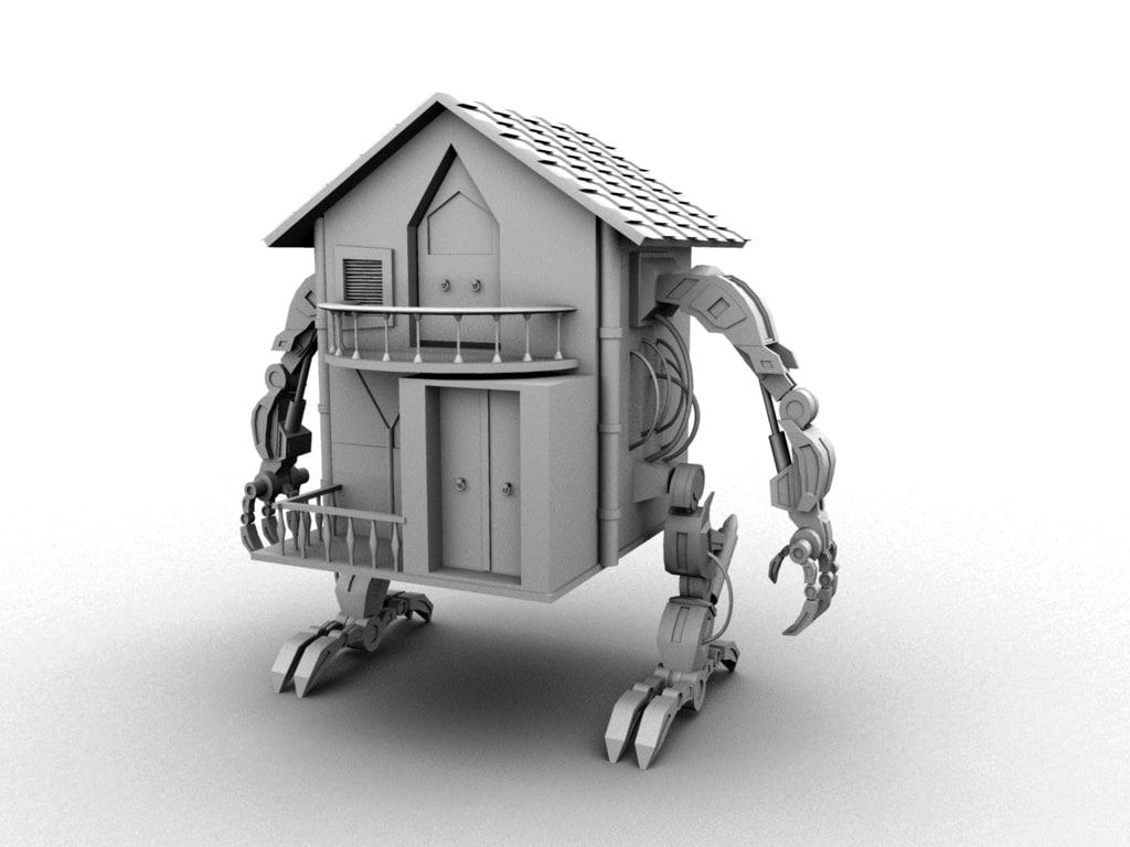 3d model house robot